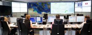 Das Lagezentrum bei Frontex. Hier laufen auch die Daten von EUROSUR zusammen. (Bild: Frontex)