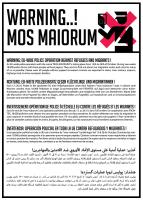 """Linke Gruppen haben gegen """"Mos Maiorum"""" mit einer """"Reisewarnung"""" reagiert."""