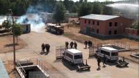 Eine ähnliche Übung mit europäischen Polizeien hatte die Bundespolizei 2010 in Lehnin bei Potsdam abgehalten. Bild: leftvision.