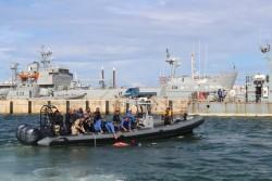 """November 2013: Ausbildung der libschen Küstenwache in EU-Mission """"EUBAM Libyen"""" (Bild: EEAS)."""